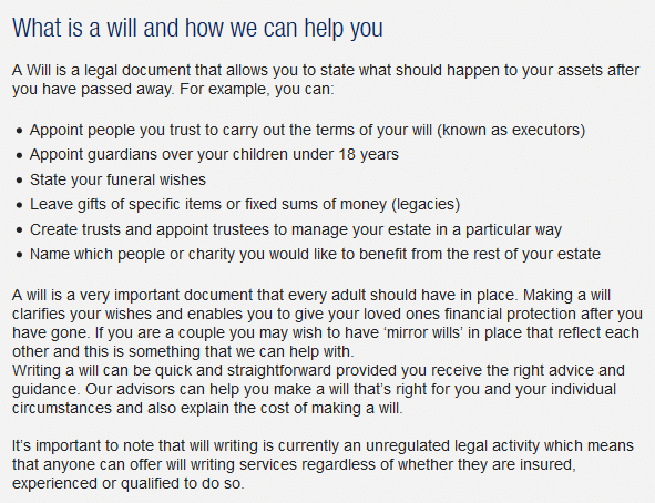 Click Here to Read More Guidance for making a will, including the 7 reasons why you must arrange a will for yourself